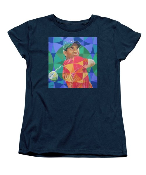 Women's T-Shirt (Standard Cut) featuring the drawing Tiger Woods by Joshua Morton