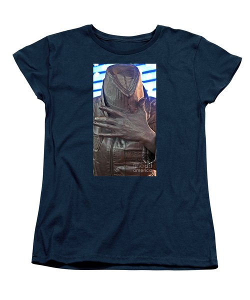 Women's T-Shirt (Standard Cut) featuring the photograph Tin Man In Times Square by Lilliana Mendez