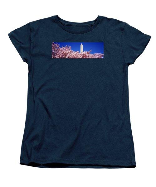 Washington Monument Washington Dc Women's T-Shirt (Standard Cut) by Panoramic Images