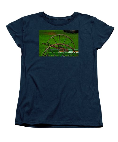 Women's T-Shirt (Standard Cut) featuring the photograph Wheels Of Time by Rowana Ray