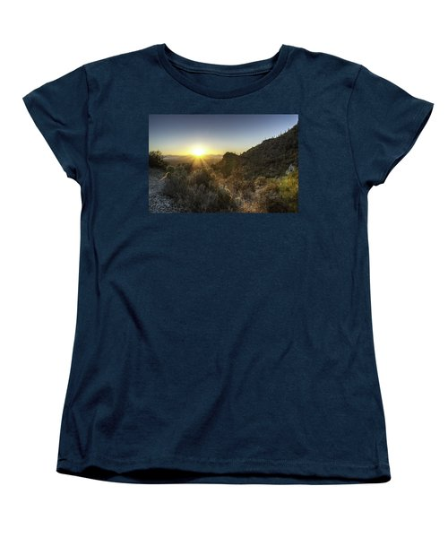 Winter Sunset Women's T-Shirt (Standard Cut) by Lynn Geoffroy