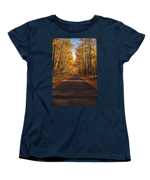 Women's T-Shirt (Standard Cut) featuring the photograph Autumn Drive by Andrew Soundarajan
