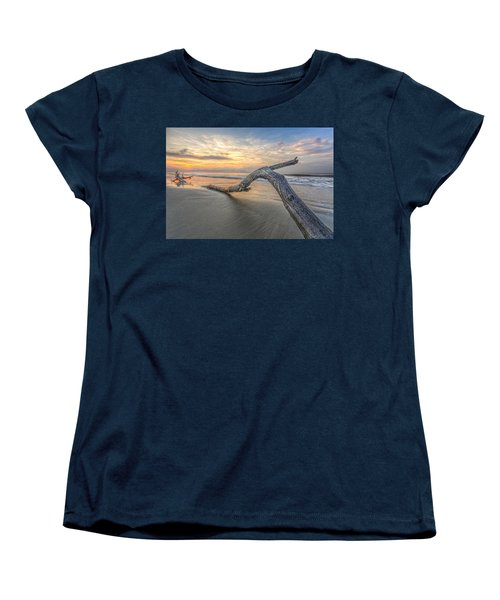 Bough In Ocean Women's T-Shirt (Standard Cut) by Peter Lakomy