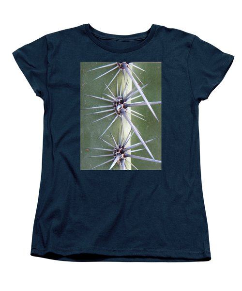 Women's T-Shirt (Standard Cut) featuring the photograph Cactus Thorns by Deb Halloran