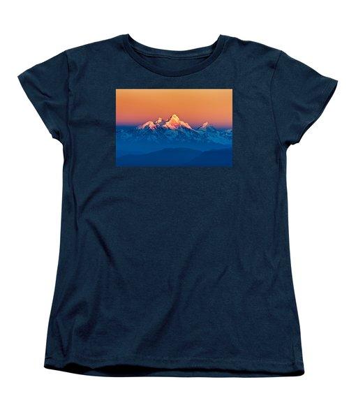 Himalayan Mountains View From Mt. Shivapuri Women's T-Shirt (Standard Cut) by Ulrich Schade