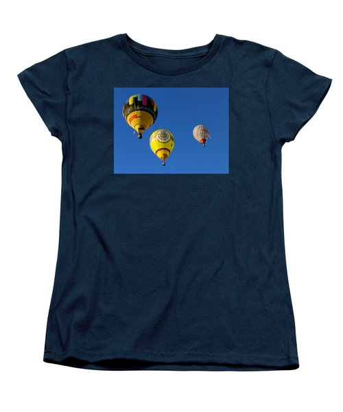 3 Hot Air Balloon Women's T-Shirt (Standard Cut) by John Swartz