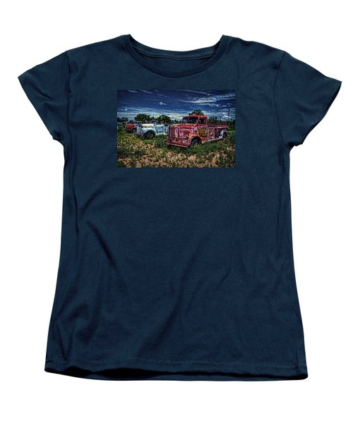 Women's T-Shirt (Standard Cut) featuring the photograph 3 In A Row by Ken Smith