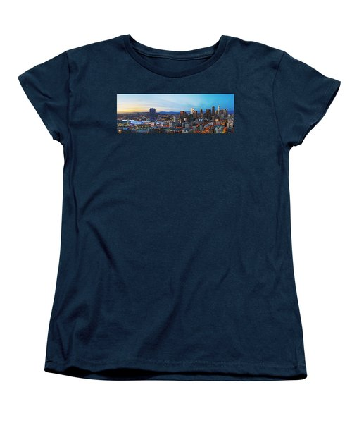 Los Angeles Skyline Women's T-Shirt (Standard Cut) by Kelley King