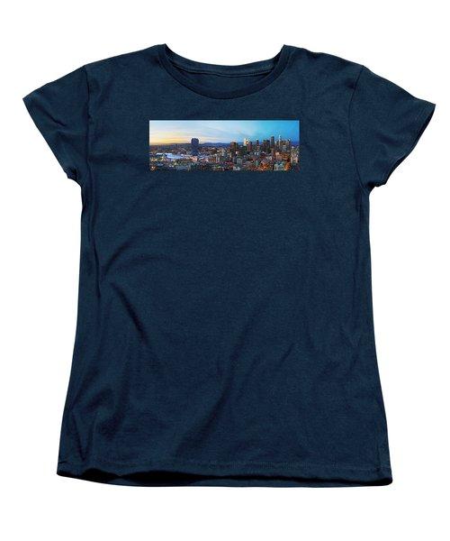 Los Angeles Skyline Women's T-Shirt (Standard Cut) by Kelley King