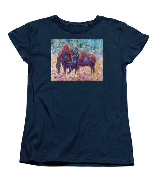 Women's T-Shirt (Standard Cut) featuring the painting Love Season II by Xueling Zou