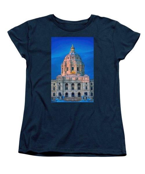Minnesota State Capitol St Paul Women's T-Shirt (Standard Cut) by Amanda Stadther