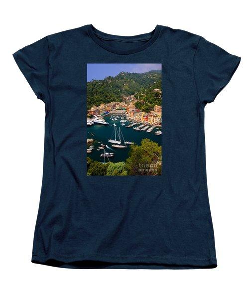 Portofino Women's T-Shirt (Standard Cut) by Brian Jannsen