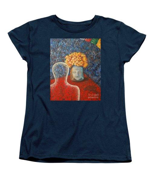 Tibetan Prayers Women's T-Shirt (Standard Cut) by Mini Arora
