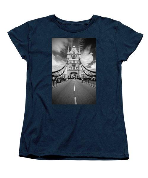 Women's T-Shirt (Standard Cut) featuring the photograph Tower Bridge In London by Chevy Fleet