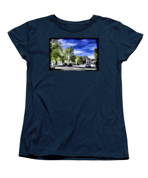 Cars On A Street In Edinburgh Women's T-Shirt (Standard Cut) by Ashish Agarwal