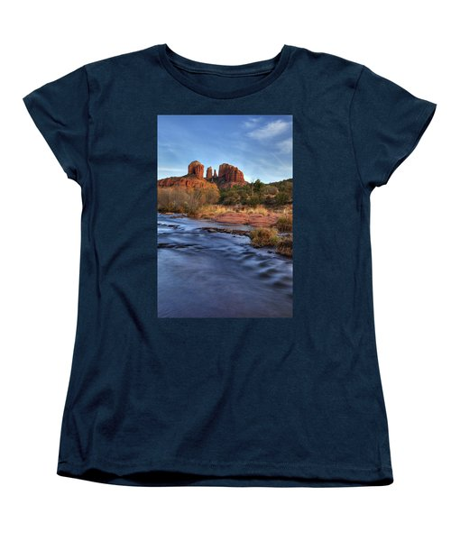 Cathedral Rocks In Sedona Women's T-Shirt (Standard Cut) by Alan Vance Ley