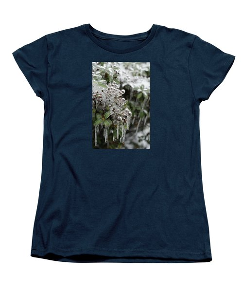 Women's T-Shirt (Standard Cut) featuring the photograph Ice  by Heidi Poulin