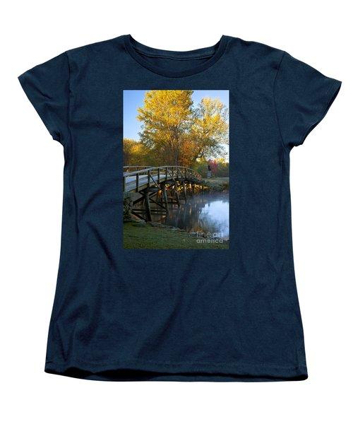 Old North Bridge Concord Women's T-Shirt (Standard Cut) by Brian Jannsen