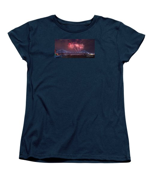 Women's T-Shirt (Standard Cut) featuring the photograph 4 Th Of July Firework by Rima Biswas