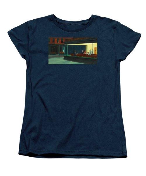 Nighthawks Women's T-Shirt (Standard Cut) by Edward Hopper