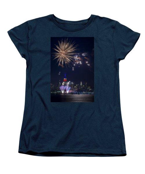 4th Of July Fireworks Women's T-Shirt (Standard Cut) by Eduard Moldoveanu