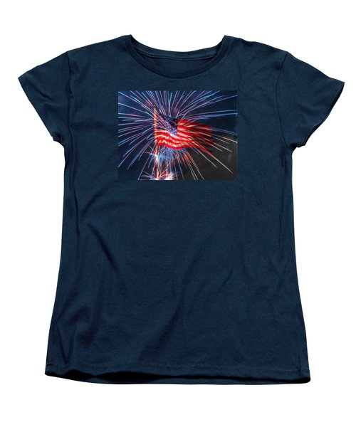 Women's T-Shirt (Standard Cut) featuring the digital art 4th Of July by Heidi Smith