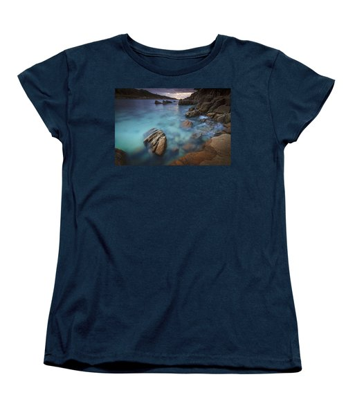 Women's T-Shirt (Standard Cut) featuring the photograph Chanteiro Beach Galicia Spain by Pablo Avanzini