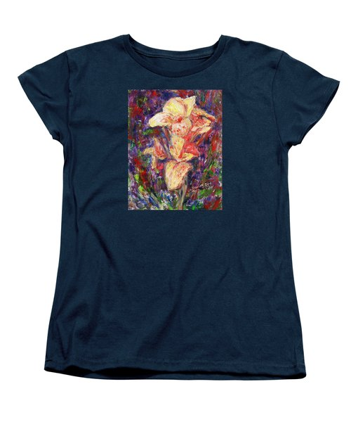 Women's T-Shirt (Standard Cut) featuring the painting First Lady by Xueling Zou