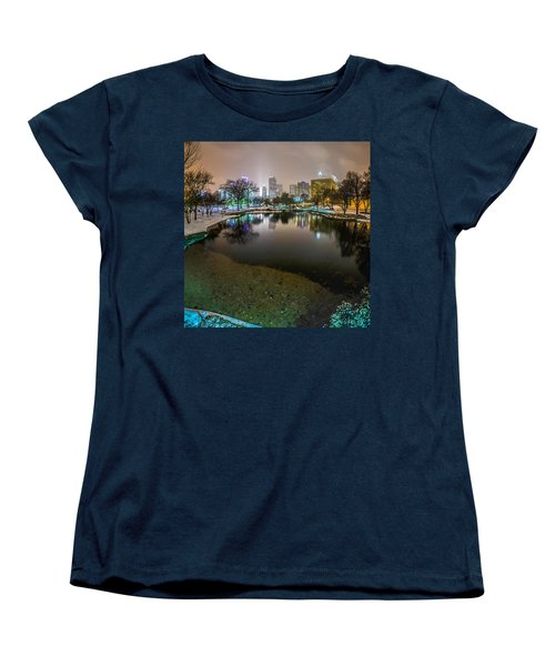 Charlotte Nc Skyline Covered In Snow In January 2014 Women's T-Shirt (Standard Cut) by Alex Grichenko