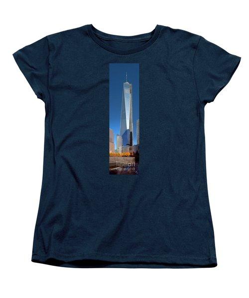 Women's T-Shirt (Standard Cut) featuring the photograph 9/11 Memorial by Mariarosa Rockefeller