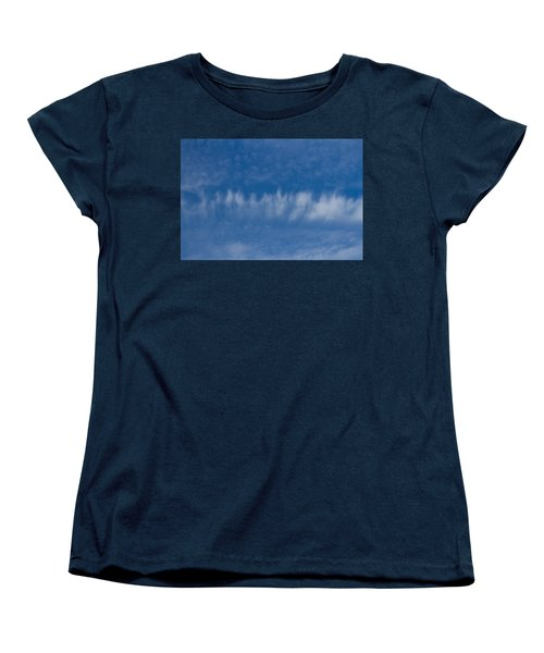 Women's T-Shirt (Standard Cut) featuring the photograph A Batch Of Interesting Clouds In A Blue Sky by Eti Reid