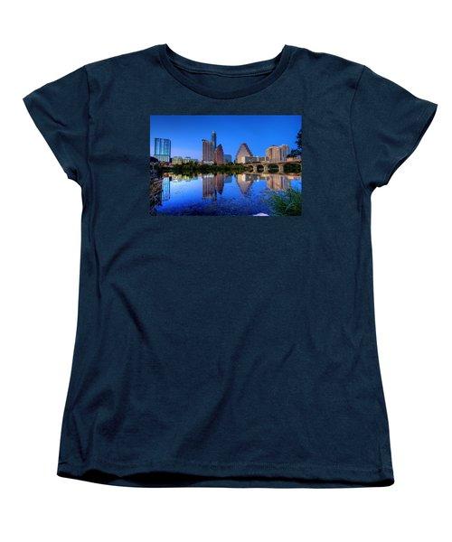 A Beautiful Austin Evening Women's T-Shirt (Standard Cut) by Dave Files