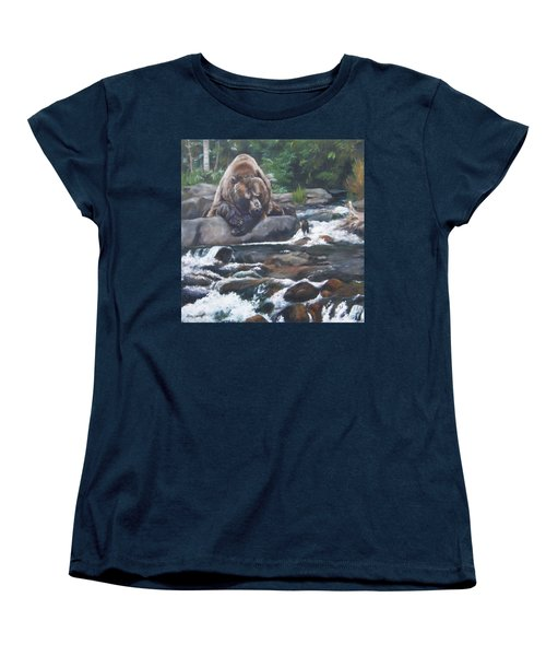 Women's T-Shirt (Standard Cut) featuring the painting A Berry For Your Thoughts by Lori Brackett