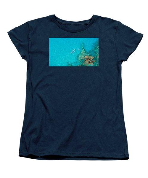 A Bird's Eye View Women's T-Shirt (Standard Cut) by Denise Bird