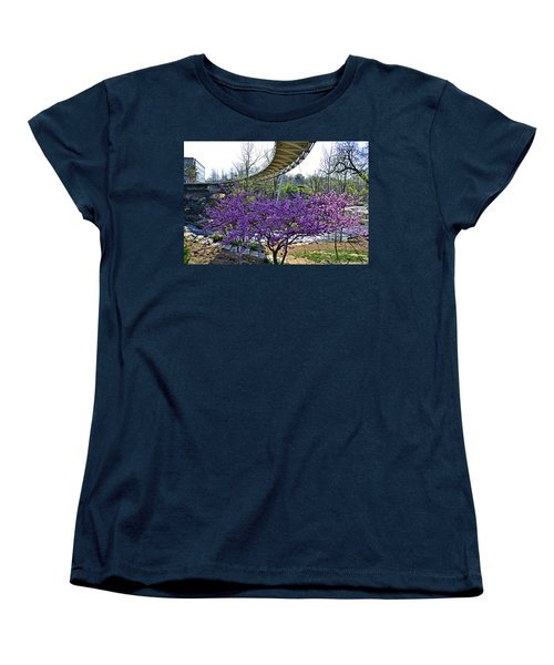 Women's T-Shirt (Standard Cut) featuring the photograph A Bridge To Spring by Larry Bishop