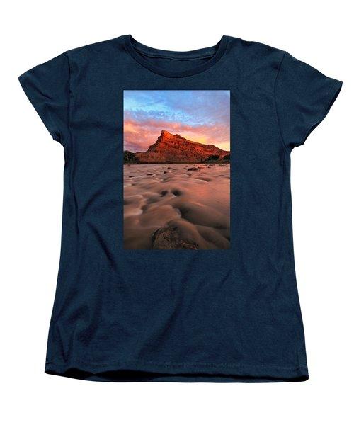 Women's T-Shirt (Standard Cut) featuring the photograph A Chocolate Milk River by Ronda Kimbrow