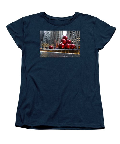A Christmas Card From New York City - Radio City Music Hall And The Giant Red Balls Women's T-Shirt (Standard Cut)