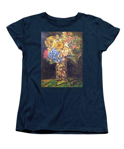 A Colorful Sun-day Women's T-Shirt (Standard Cut) by Belinda Low