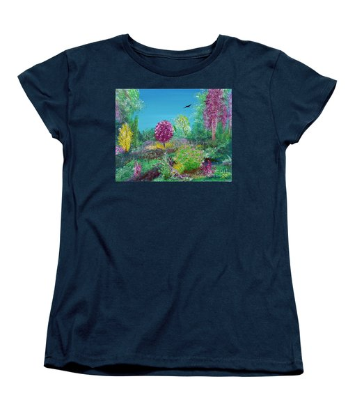 A Corner Of Heaven In Rural Indiana Women's T-Shirt (Standard Cut) by Alys Caviness-Gober