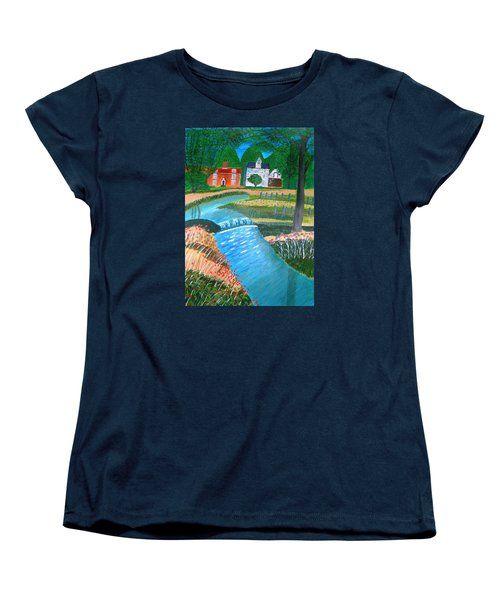 A Country Stream Women's T-Shirt (Standard Cut) by Magdalena Frohnsdorff