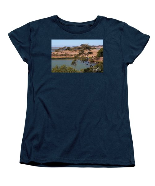 Women's T-Shirt (Standard Cut) featuring the photograph A Cove In Late Summer At Elkhorn Slough by Susan Wiedmann