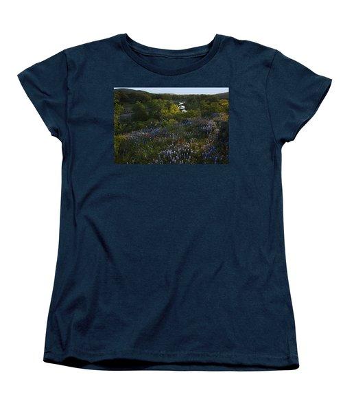 A Creek In Llano County  Women's T-Shirt (Standard Cut) by Susan Rovira