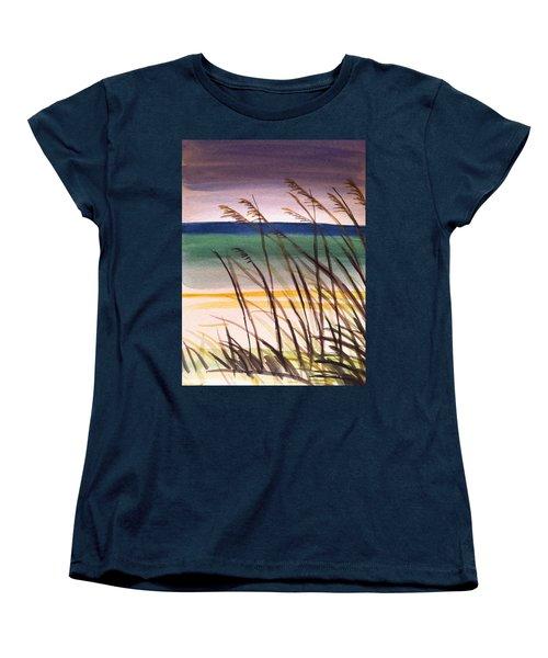 A Day At The Beach 2 Women's T-Shirt (Standard Cut) by Hae Kim