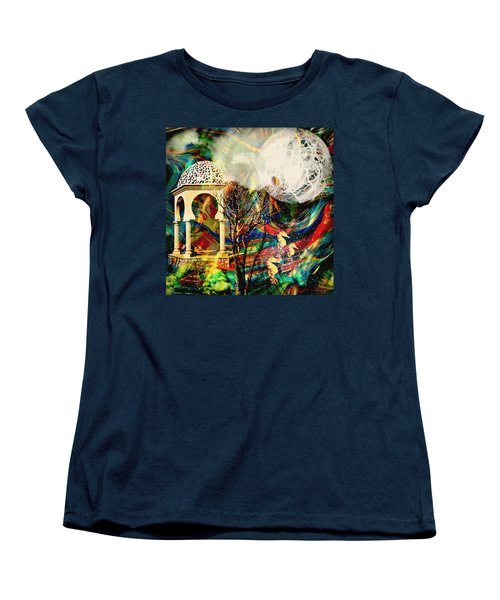 Women's T-Shirt (Standard Cut) featuring the mixed media A Day In The Park by Ally  White