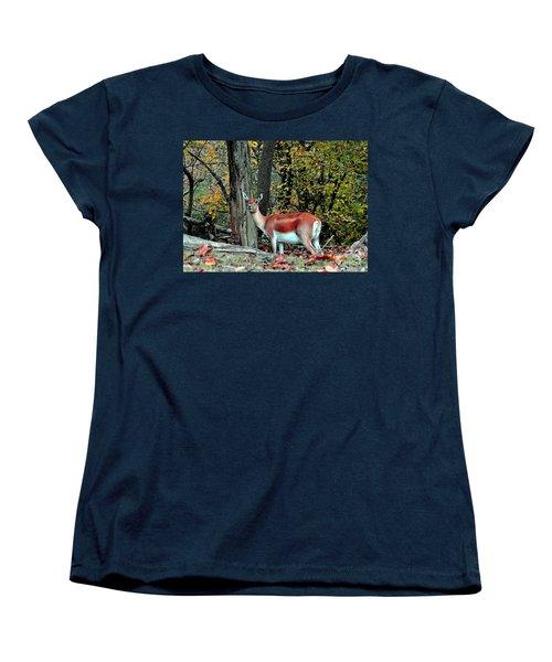 A Deer Look Women's T-Shirt (Standard Cut) by Lydia Holly