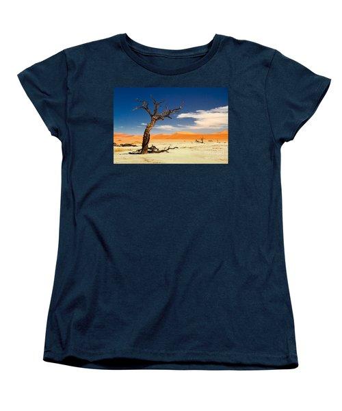 Women's T-Shirt (Standard Cut) featuring the photograph A Desert Story by Juergen Klust