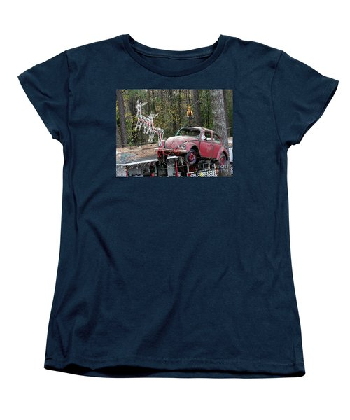 Women's T-Shirt (Standard Cut) featuring the photograph A Difference Sleigh  by Donna Brown