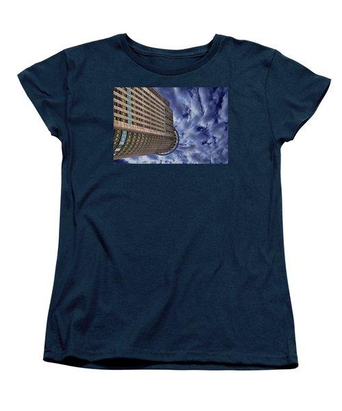 Women's T-Shirt (Standard Cut) featuring the photograph A Drifting Skyscraper by Ron Shoshani