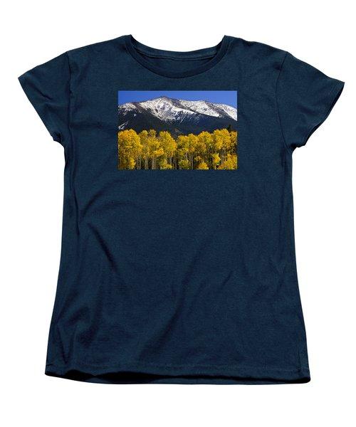 A Dusting Of Snow On The Peaks Women's T-Shirt (Standard Cut) by Saija  Lehtonen