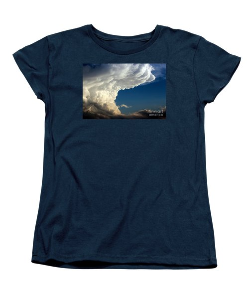 Women's T-Shirt (Standard Cut) featuring the photograph A Face In The Clouds by Barbara Chichester